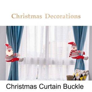 Cartoon Weihnachten Vorhang-Wölbung Tieback Weihnachtsschneemann Rentier Puppen Vorhang Haken Weihnachtsdeko Festliche Partei Hauptdekor-
