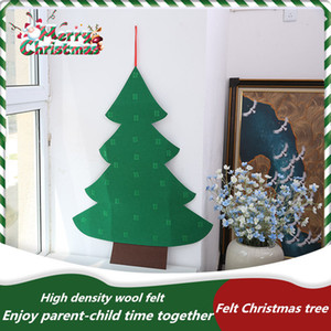 DIY Felt Christmas Tree Kids Toys Artificial Christmas Tree Wall Hanging Ornaments Home Christmas Decoration Xmas Gift about 100cm*70cm