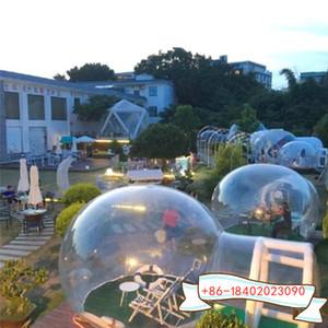 5m chambre avec 2 m porte gonflable commercial Cristal Bubble Tend extérieur igloo gonflable en PVC transparent Bulle Hôtel Tente