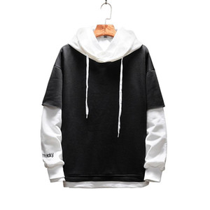Pullover Plaid Long Sleeve fleece Mens Hip Hop hoody Hoodies Casual Shirts Fashion streetwear