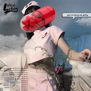 Lilicochan Cosplay Kostüme Rosa Krankenschwester Erotic Maid Uniform Sexy Dessous für Frauen heißes Outfit für Mädchen Coole Gothic Punk Style