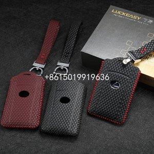 leather key cover for LEXUS LX 570 2013-2016 LS 2010 600hl car key case wallet holder key holder
