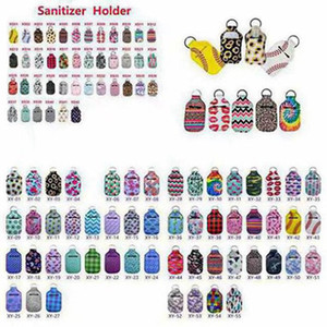 112 Cores Neoprene Hand Sanitizer Titular Chapstick Titular colorido Chapstick Batom Neoprene Keychain Mini Bottle Capa Partido Favor100pcs
