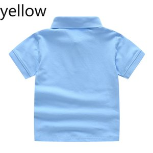 2020 new kids summer pure cotton short sleeve shirt baby boy girl solid color polo shirt 2-7 years old children's  polo outerwear