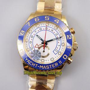 JF Yeni Süper versiyonu YM2 II 904L Çelik Seramik Bezel 116688 ETA A7750 Chronograph Otomatik 116680 ERKEK KOL Spor Kronometre Saatler 78218