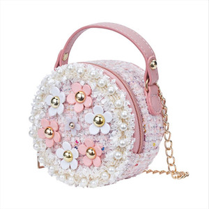 New Girls Floral Princess Bag Kids Baby Children Handbags Messenger Crossbody Bags Shoulder Stylish Zipper Mini Bags