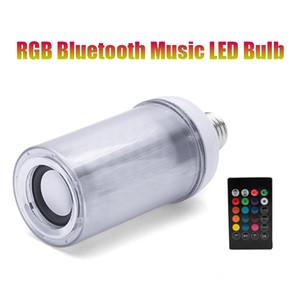 Lâmpada Bluetooth Speaker, 8W E26 RGB + W mudando lâmpada sem fio áudio estéreo com 24 teclas controle remoto LED Bulbo