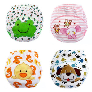 Children's Cartoon Patch Baby Bread Pants Cotton Washable Diaper Cloth Diaper Baby Training Pant Wholesale