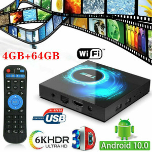 2020 New Hot 4GB+64GB T95 Android 10.0 TV Box Quad Core HD 6K HDMI WIFI Media Player Dual WIFI+BT Network TV Set-top Box