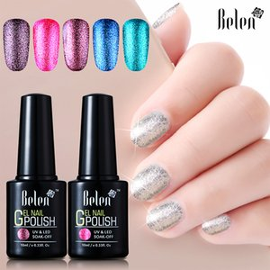 Belen Gel-Nagellack Glitter UV und LED tränken weg Nails Gold-Glow Shinning Platinum Langlebige 10ml Semi Permanent Basis Top