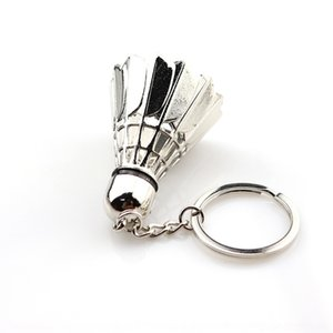 Creative 3D металла спорт Creative 3D бадминтон брелок ключевого ключевой бадминтон металл спорт Keychain xXPOc