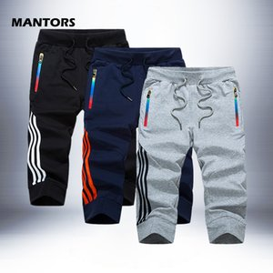 Pantaloni Sportswear Slim Fit Breve Sweatpants Via Capri estate pantaloncini casuale uomini Stripe Shorts jogging Uomo Bermuda Costumi