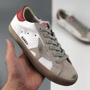 Con la caja de oro de la manera 2020 Superstars Gooses las zapatillas de deporte de los hombres de las mujeres zapatos sucios blanca clásica Do-viejos zapatos ocasionales del tamaño 35-45