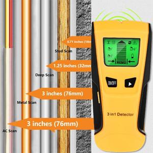 Rilevatori di metallo industriale Vastar 3 in 1 Rilevatore Trova borchie di legno Tensione AC Tensione in diretta Rilevatore a muro Scanner elettrico Finder