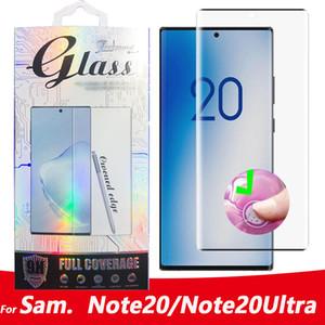 Per Samsung Galaxy Note20 Ultra vetro dello schermo 3D curvo pellicola protettiva per Samsung Nota 20 S20 Ultra note10 S10 S8 S9 Inoltre NOTE8 Note9 Glass