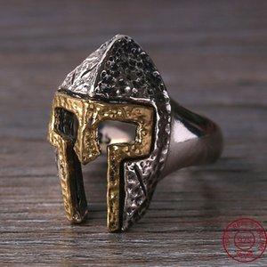 925 Tay Gümüş Erkekler Spartan Savaşçı Kask Ayarlanabilir Yüzük Hediye moda Takı