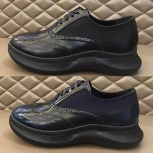 Ekleme Vernik Deri Ve Çiçek Oyma ile Nazik Erkekler Gerçek Deri Casual Ayakkabı için 2020 Moda Yüksek Kalite Formal Elbise Ayakkabı
