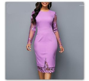 Sexy Lace Long Sleeve Zipper Dress Fashion Ladies Brief Dresses Lace Panelled Solid Designer Bodycon Dresses