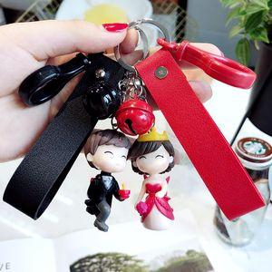 Оптовые милые голубки куклы ключевой цепи кулон творческий мультфильм 3 D брелок кукла автомобиль