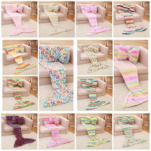 new Mermaid Blanket Sleeping Bag Mermaid Tail Blanket Nap Plaid Blankets Bedding Living Room Blankets not including pillowT2I51409
