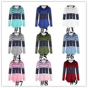 Women Hoodies Sweatshirts Designers Ladies Autumn Clothing Long Sleeve Pullover Hooded Sweater Tops Loose Striped Patchwork T-shirt E81804