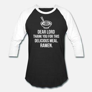 Oração deliciosa Ramen Gostoso Ramen Noodle camiseta homens algodão tamanho personalizado S-3xl cor sólida camisa Fit engraçados Letters Primavera