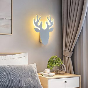 Nordic Bedside Wall Lamp Antlers Aisle Decorative Lighting Stairs Wall Sconce Living Room Creative Light