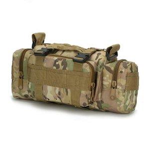 Designer- 허리 가방 나일론 위장 캠핑 하이킹 사냥 어깨 가방 대용량 야외 다목적 가방 10 색 무료 배송