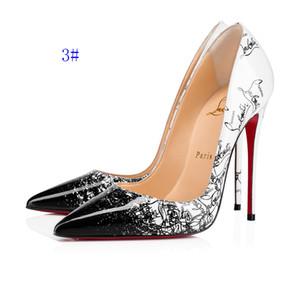 Stili di nuovo trasporto libero così Kate 8 centimetri 10cm 12cm alti calza inferiore rossa vera pelle nuda Color Point Toe Pumps gomma scarpe da sposa