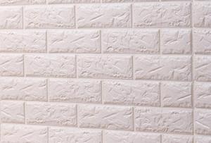 Antecedentes del papel pintado 3D de piedra moderna Revestimiento de paredes de PVC rollo de papel pintado la pared de ladrillo gris para fondo de pantalla de la sala moderna de fondo 3d