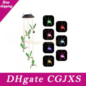 Solar borboleta Lâmpada Solar Fontes Hummingbird Lâmpada Solar Wind Sino Lâmpada Garden Party Decor