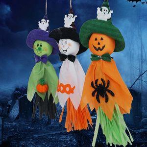 hôtel décoration Halloween maison hantée des accessoires de décoration Halloween fournitures festival fantôme guirlande fantôme pendentif citrouille w-00205