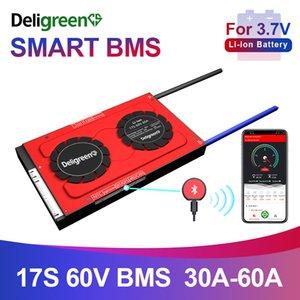 3.7V 18650 Board 30A 40A 50A 60A Li-иона лития Защита смарт BMS 17S 60V баланс Bluetooth APP ПК программное обеспечение R485