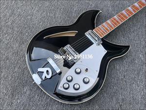 Высокое качество 6-струнная электрическая гитара, рикен 381 электрическая гитара, черная краска, бесплатная доставка