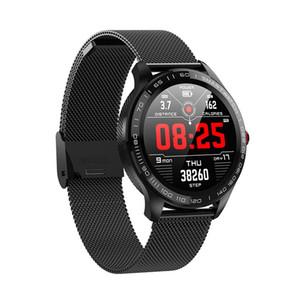 toque L9 completa relógio inteligente IP68 Waterproof Bluetooth inteligente Pulseira Homens Mulheres ECG PPG Heart Rate sangue 1pcs monitor de oxigênio Pressão