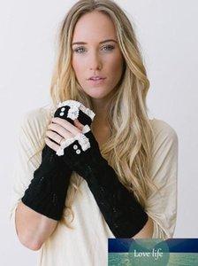 Bale Dans düğmesi eldiven bilek ısıtıcıları Warmers Kol Katı Dantel örme parmaksız eldivenler mitten Moda 3 renk # 3720