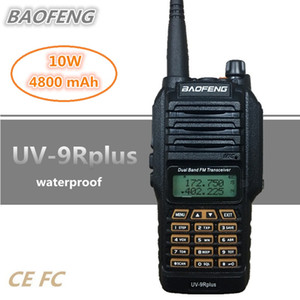 BAOFENG UV-9R PLUS 10W 4800MAH Walkie Talkie 10km Impermeable UHF VHF Portátil CB Estación de radio Handheld HF Transceptor Scanner