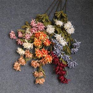 """Faux longue tige Chrysanrhemum (6 tiges / pièce) 29.53"""" Longueur Simulation Dendrobium pour le mariage décoratifs pour la maison Fleurs artificielles"""