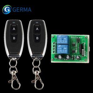 GERMA 2 CH RF 433 Mhz telecomando trasmettitore + 433Mhz Wireless Universal Remote Control Switch DC 12V 2CH RF Relay modulo ricevitore