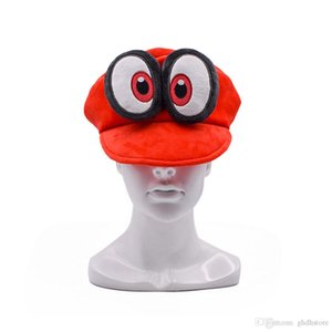 Hot New Super Mario Bros Odyssey Cappy Plush Hat Anime Fleece Cosplay Warm Caps Costumes Best Gifts Soft Hats