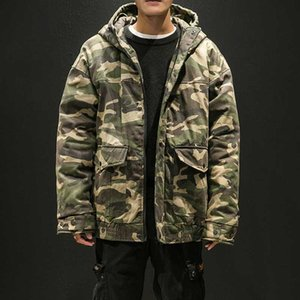 Parka Men Winter Jackets Cotton Chaquetas Hombre Camo Overcoat Mens Casual Camouflage Mens Jackets and Coats Wholesale