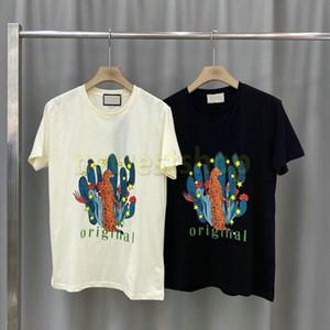 20ss estate più nuova foresta di moda Stampa maglietta Classic Tee di fascia alta casual lettera della stampa delle magliette High Street Uomini donna traspirante Tee