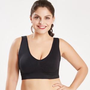 Yoga Sport Bras Women Seamless Bra With Pads Big Size Bralette Push Up Brassiere Bra Vest Wireless e
