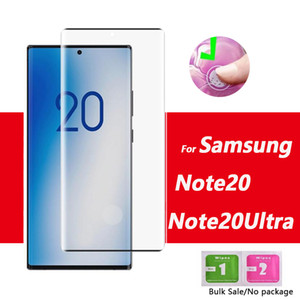 Non Trou d'empreintes digitales Débloquer Cuvred Trempé protection 5d écran en verre pour Samsung Galaxy Note20 S20 Plus Ultra note10 note 10 S10 S9 S8 plus