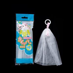 Portátil hangable Handmade Soap Saver Bag Bath Shower Viagem fabricante de bolha espuma malha Cleansing Net delicado espuma rede