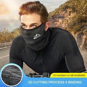 Radfahren Halb Designer-Gesichtsmaske Bandana Haut kühle Eis-Silk atmungsaktiv UV-Schutz Sport Kopfbedeckung Bike Magie Stirnband Schal Face Shield