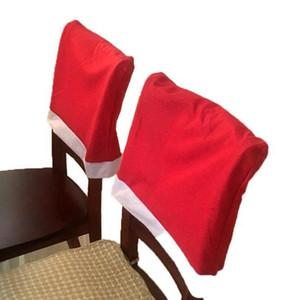 Merry Xmas крышки стула Pure Color Председатель Обложка Мода Рождество Председатель партии украшения подарка Оптовая DHB1452