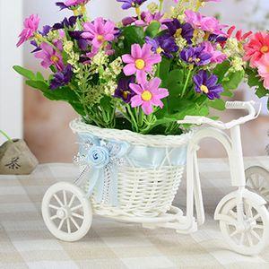 2019 New Bicycle Decorative Flower Basket Tricycle Bike Design Flower Basket Storage Party Decoration Pots Kids DIY Decor Toys