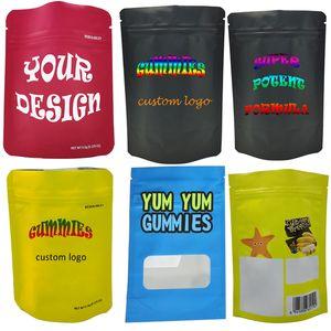 Пользовательские сумки Zip блокировка ЗАПАХ Proof Упаковки Майларового Мини Больших пластиковый мешок печать Защита от детей Испарителей майлара Съедобных конфет сумки OEM 3.5Gram сумка