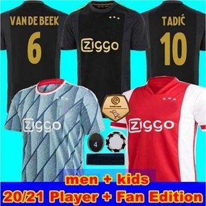 (20 개) (21) 아약스 FC 축구 유니폼 2020 2021 PROMES 알바 레즈 타 디치 NERES VAN 크는 남자 어린이 축구 셔츠 유니폼 선수 팬 판